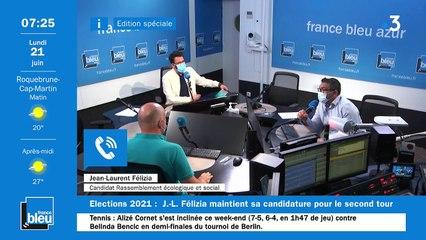 21/06/2021 - La matinale de France Bleu Azur