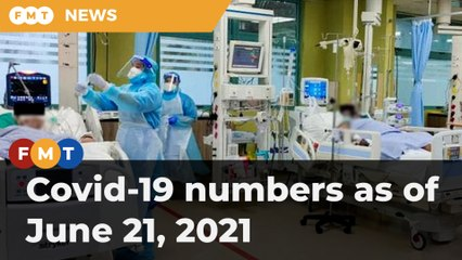 Covid-19 numbers as of June 21, 2021
