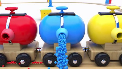 Learn Colors with Preschool Toy Train and Color Balls - Shapes and Colors Collection for Children