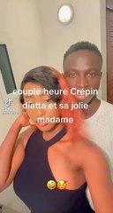Krepin Diatta en toute complicité avec sa femme