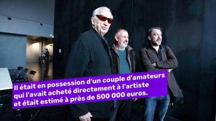 Une oeuvre de Pierre Soulages a été vendue 1,6 million d'euros