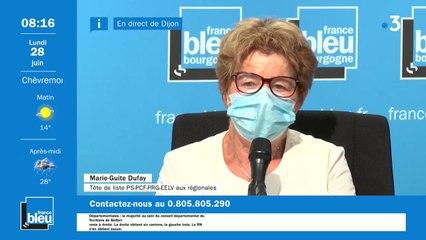 Marie-Guite Dufay réélue : son interview sur France Bleu