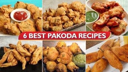 6 Best Pakoda Recipes   How To Make Different Types of Pakora   Paneer Pakoda   Moong Dal Pakoda
