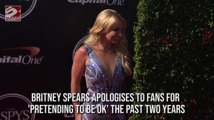 Britney Spears issues an Apology