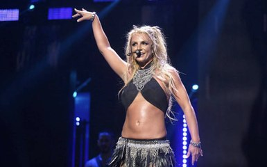 Britney Spears Just Danced to a Prince Song In a Skintight Sparkly Jumpsuit