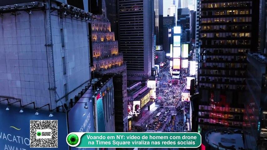 Voando em NY- Video de homem com drone na Times Square viraliza nas redes sociais
