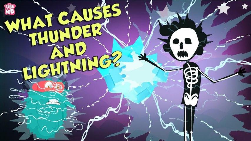 What Causes Thunder & Lightning?   THUNDERSTORM   The Dr Binocs Show   Peekaboo Kidz