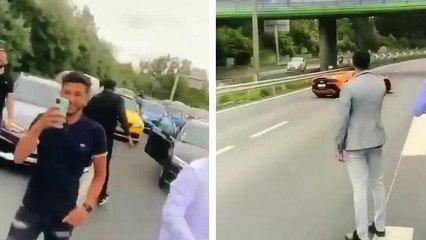 À Lens ils bloquent l'autoroute pour un mariage et détruisent une Lamborghini en échappant à la police