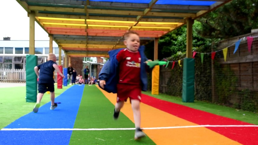 New race track is a hit at Westcliff Primary Academy's sports day