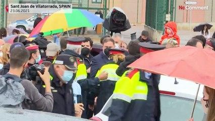 Les indépendantistes catalans acclamés à leur sortie de prison