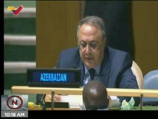 Representante de Azerbaiyán: Bloqueo de EE.UU. a Cuba contravienen los principios básicos de la ONU