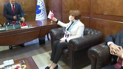 Son dakika politika: Akşener, silahlı saldırıya uğrayan Yomra Belediye Başkanı Bıyık'ı ziyaret etti