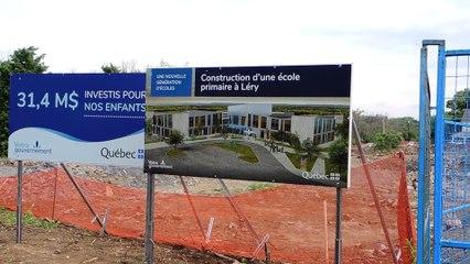 Construction d'une école primaire à Léry