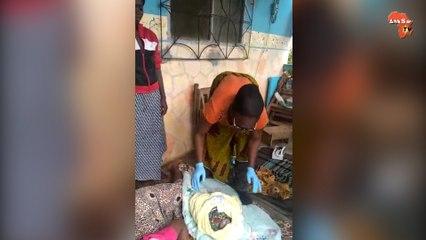 Le centre de santé de Oueoulo  (San Pedro) inondé, la sage-femme fait  accoucher une patiruente à domicile