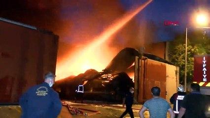 Ankara'da geri dönüşüm tesisinde yangın