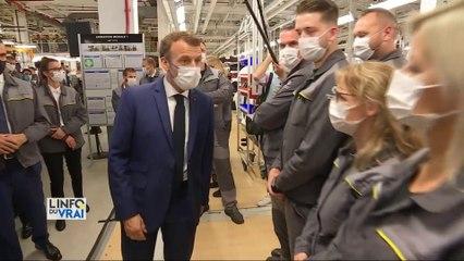 Inauguration d'une usine ultra moderne pour Emmanuel Macron