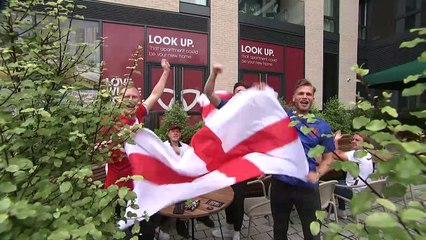 England fans gather at Wembley ahead of Germany clash