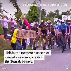 حادثة درامية في سباق تور دي فرانس للدراجات