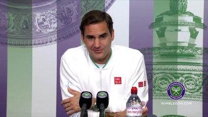 """Wimbledon 2021 - Roger Federer : """" Au deuxième tour, je serais sans doute plus relax et je me réjouis de jouer contre Richard Gasquet"""""""