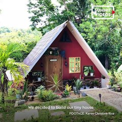 Family Builds A Tiny House With An Indoor Pool, Mini Forest, And Tree House For P350,000