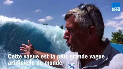 La plus haute vague artificielle au monde est à Wave Island à Monteux