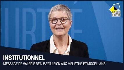 [Institutionnel] - Message de Valérie Beausert-Leick aux Meurthe-et-Mosellans