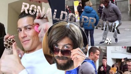 A prank with Cristiano Ronaldo in the streets of Madrid