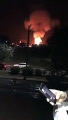 Caminhão de combustível explode em Rio Claro