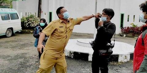 Keberatan Vaksinasi Covid Diliput, ASN dan Satpam RS Jiwa di Medan Ajak Duel Wartawan