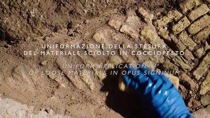 Restauración del Hipogeo del Coliseo de Roma