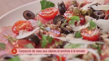 Recette Carpaccio de veau aux câpres et anchois à la tomate