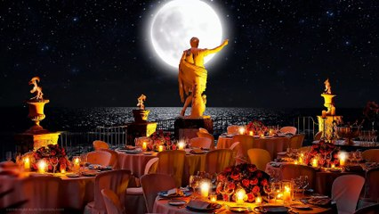 The starry nights at the Caesar Augustus restaurant
