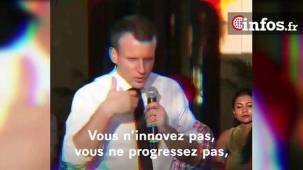 """Macron: """"Le combat pour l'égalité entre les femmes et les hommes est encore loin d'être gagné"""""""