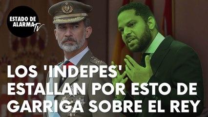 """Los 'indepes' catalanes estallan tras estas palabras de Ignacio Garriga: """"Quemando fotos del Rey"""""""