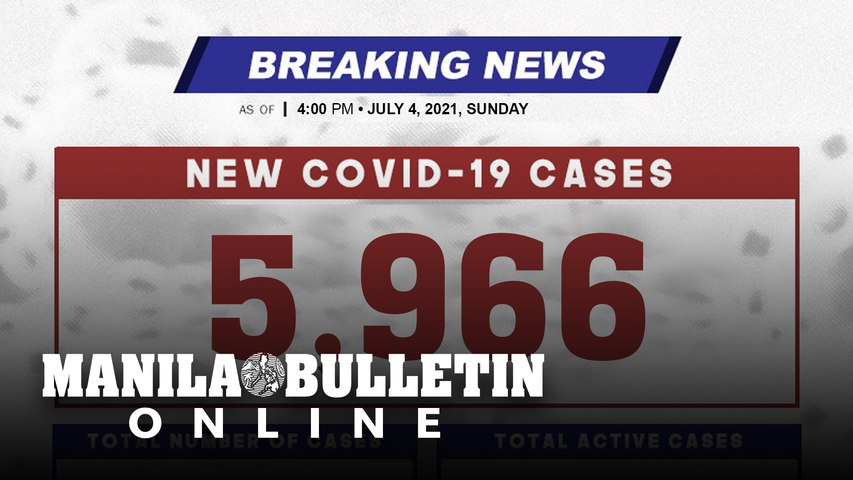 DOH reports 5,966 new cases, bringing the national total to 1,436,369, as of JULY 4, 2021
