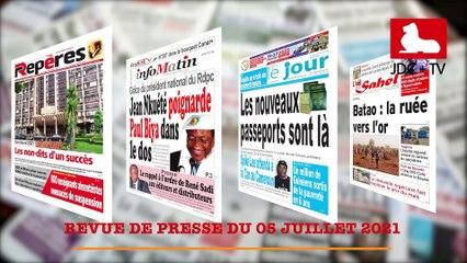REVUE DE PRESSE CAMEROUNAISE DU 05 JUILLET 2021
