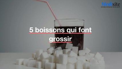 5 boissons qui font grossir