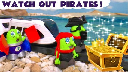 The Funlings Pirates Treasure Hunt with Stop Motion Toys and Intellino Smart Train plus Thomas the Tank Engine in this Family Friendly Full Episode English Video for Kids by Family Channel Toy Trains 4U