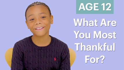 70 Men Ages 5-75: What Are You Most Thankful For?