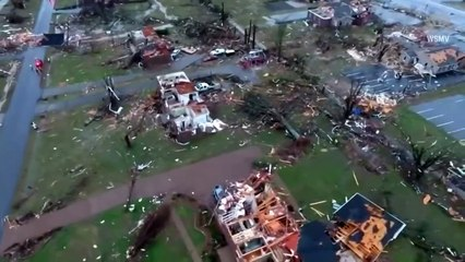TEXAS TORNADO FEST - July 6, 2021 Raw drone video - Tornado damage in Nashville, Tenn.