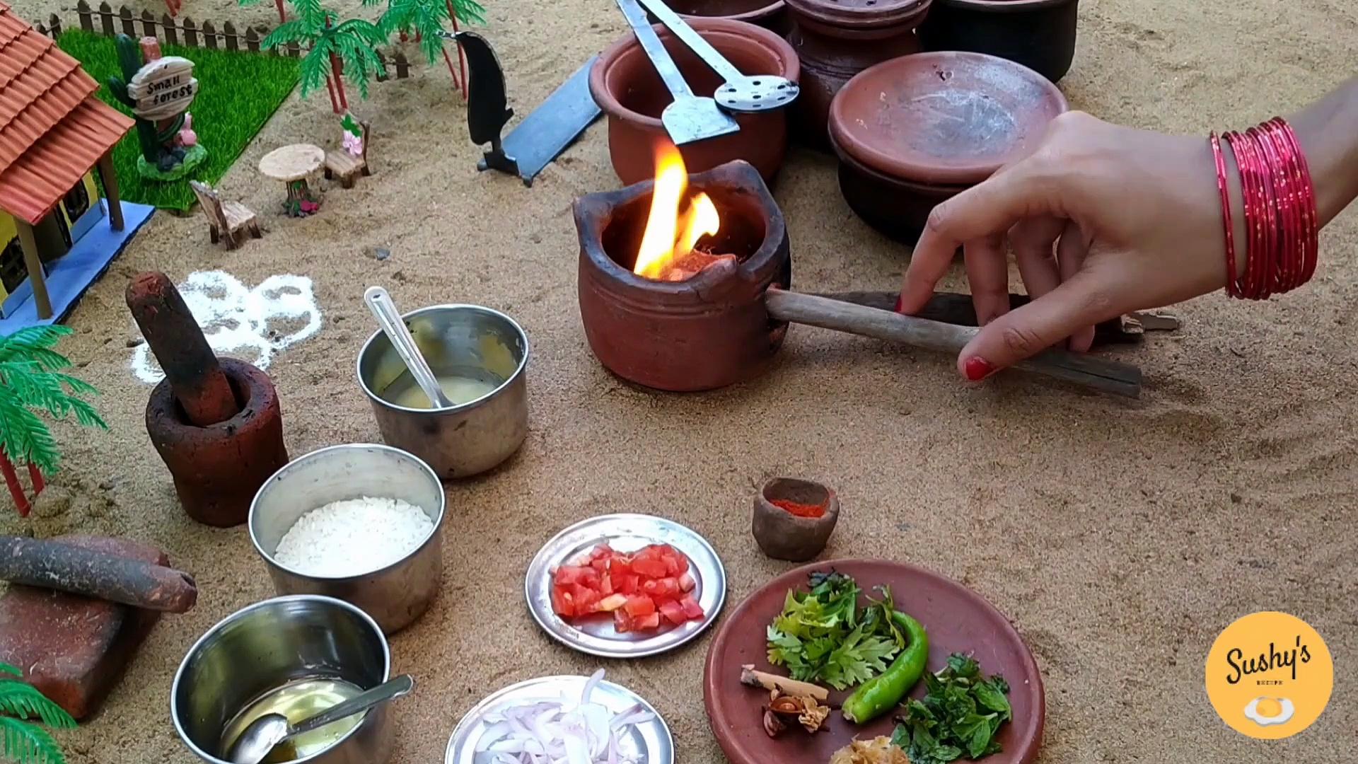 miniature prawn biryani recipe