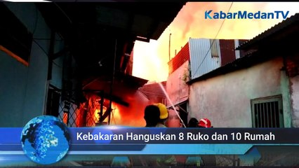 Gara-gara Bakar Sampah, 8 Ruko dan 10 Rumah di Medan Ludes Dilalap si Jago Merah