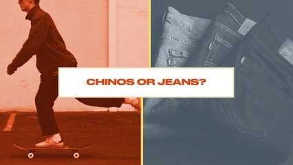 Either Or: Skateboarder Pick Between Wearing Chino or Jean Pants