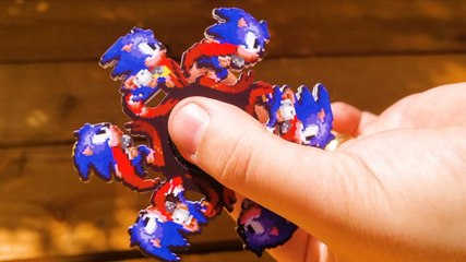 Fidget spinners have characters that look like they're running