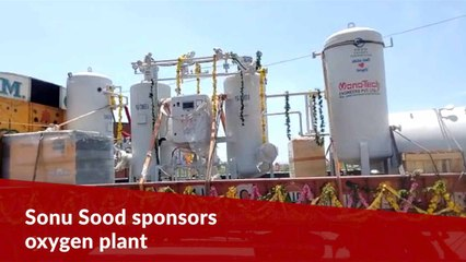 Oxygen plant sponsored by Sonu Sood foundation reaches Andhra's Nellore