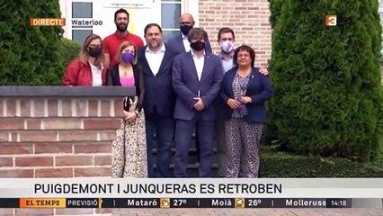 Puigdemont i Junqueras es retroben a Waterloo