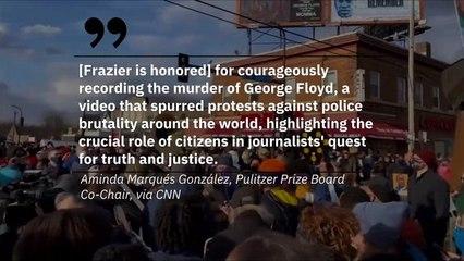 Un prix Pulitzer spécial est décerné à la femme qui a filmé le meurtre de George Floyd