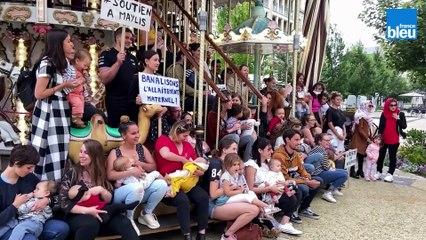 VIDÉO - Une séance d'allaitement en public revendicative dans le centre de Périgueux