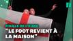Les supporters fêtent la qualification historique de l'Angleterre en finale de l'Euro