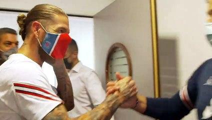 Sergio Ramos, la nouvelle recrue du PSG rencontre les supporters